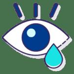 Lagrimeo en ojo provocado por alergia estacional